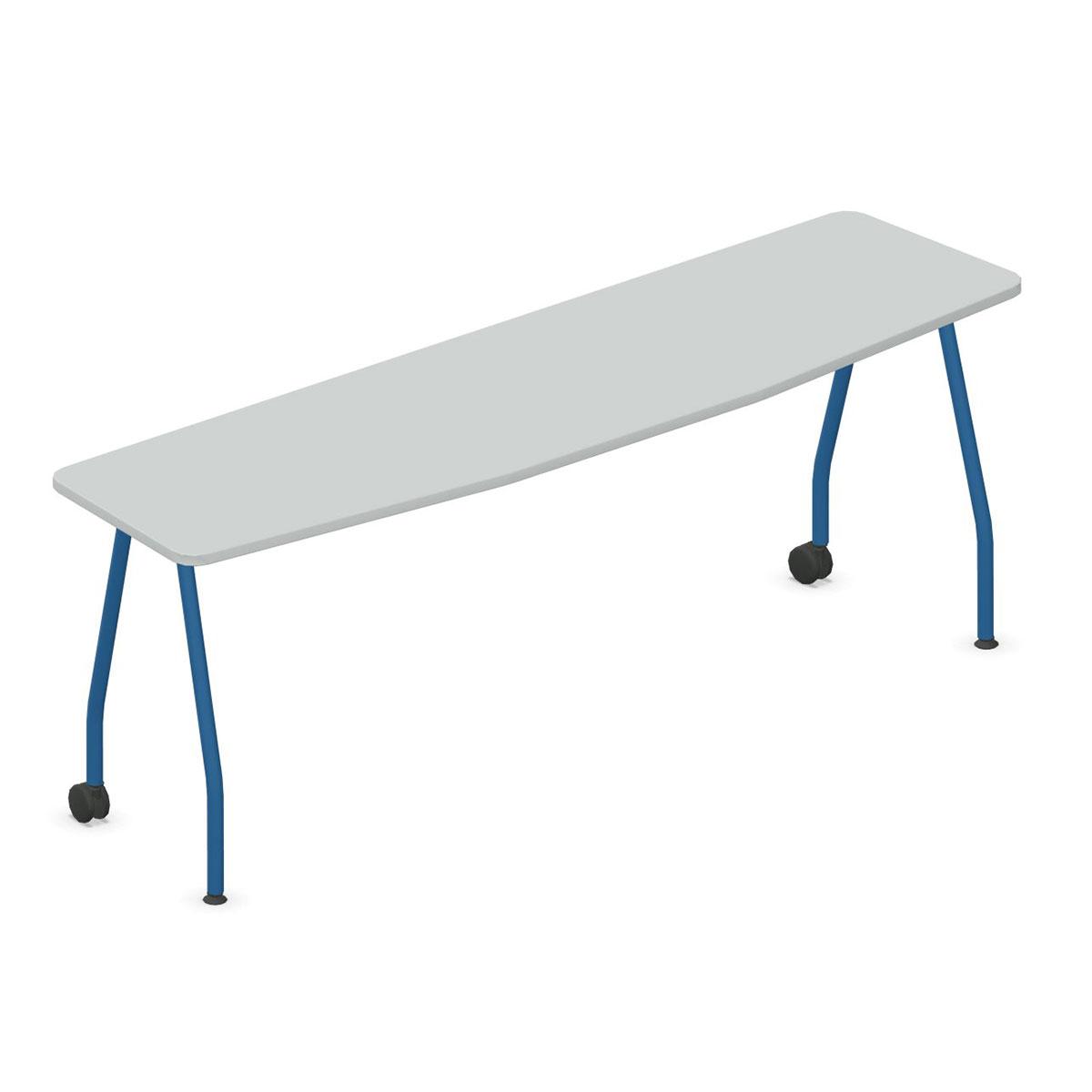 Steelcase VERB Studententisch auf Rollen in Chevronform, 2.100 x 500 mm