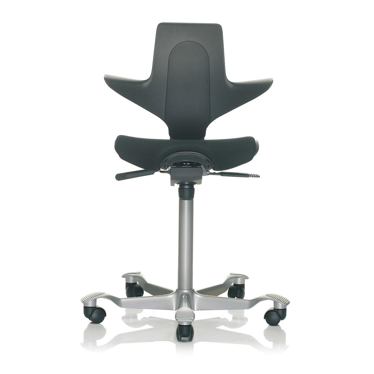 HAG Capisco Puls 8020 Arbeitsstuhl mit Sitzflächenmatte und Rückenlehne