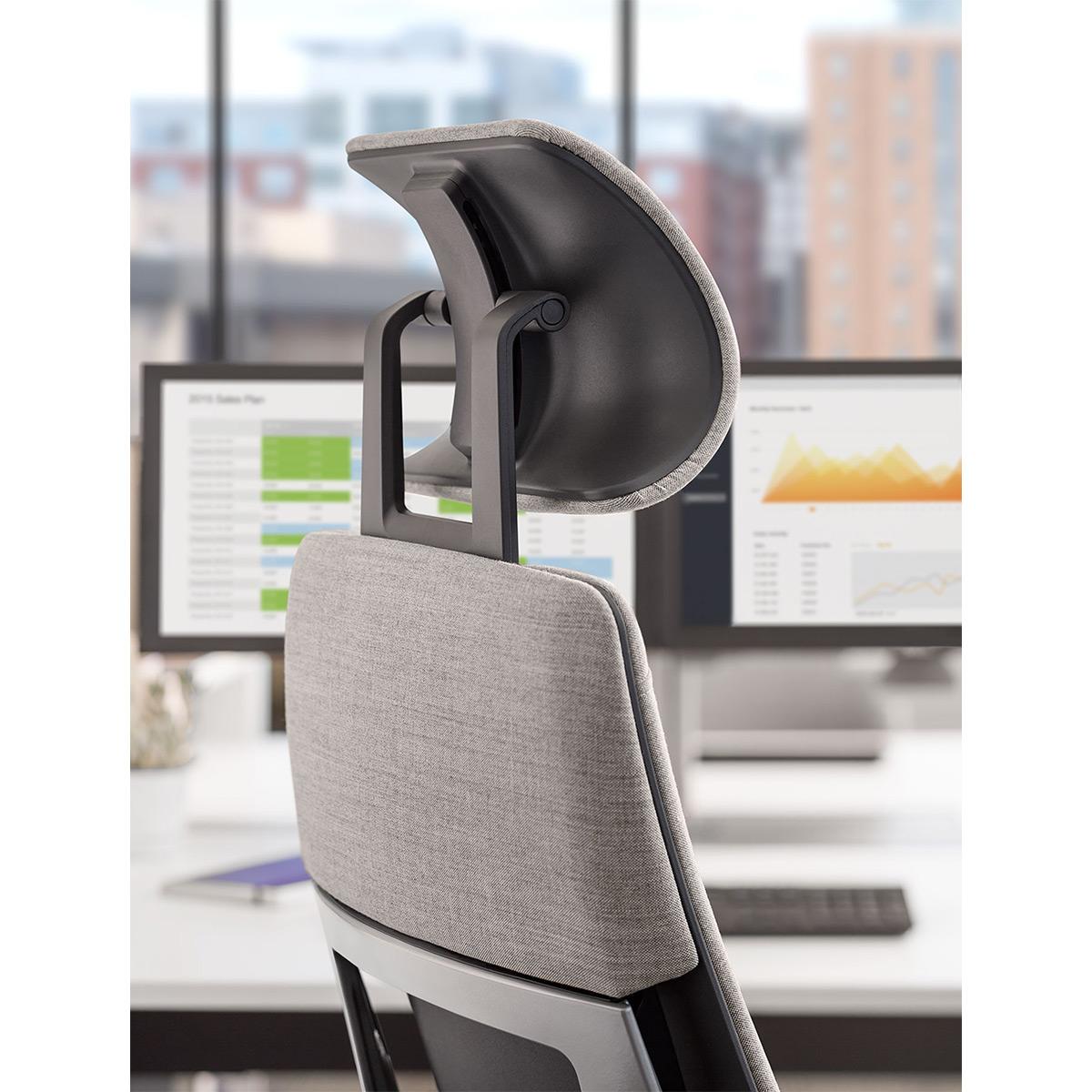 Steelcase Gesture Aktionsmodell mit Kopfstütze und Lordosenverstellung