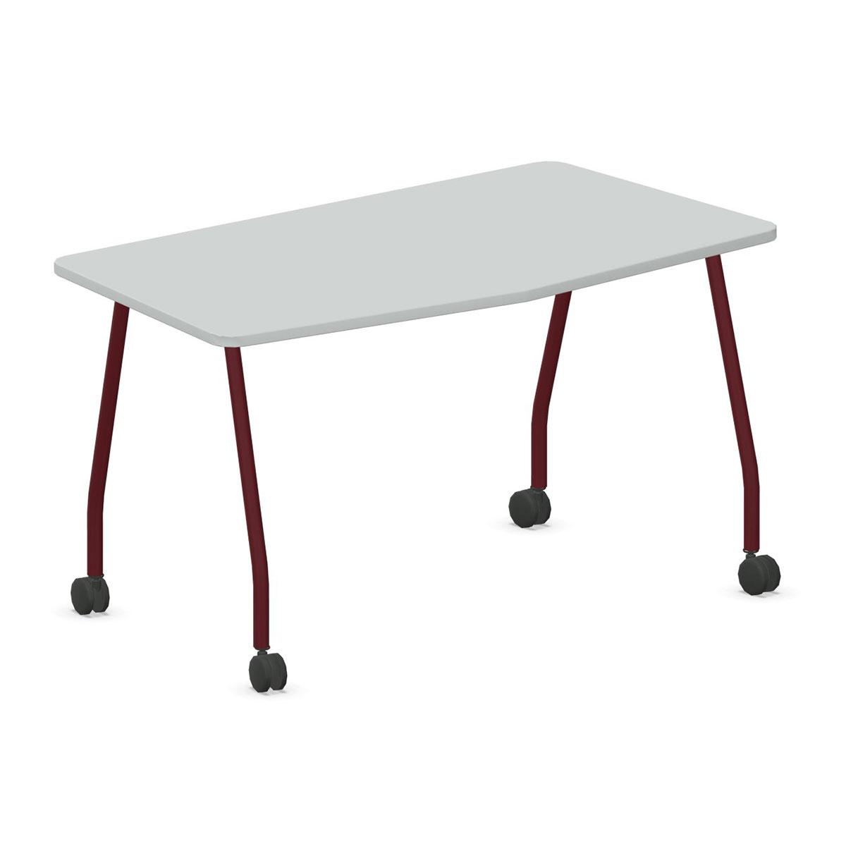 Steelcase VERB Schülertisch auf Rollen in Chevronform, 1.400 x 700 mm