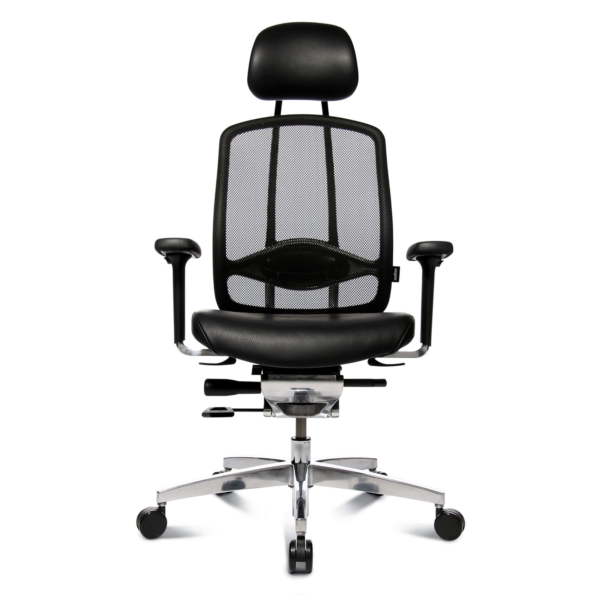 Wagner AluMedic Limited Bürostuhl mit Lederbezug und Kopfstütze