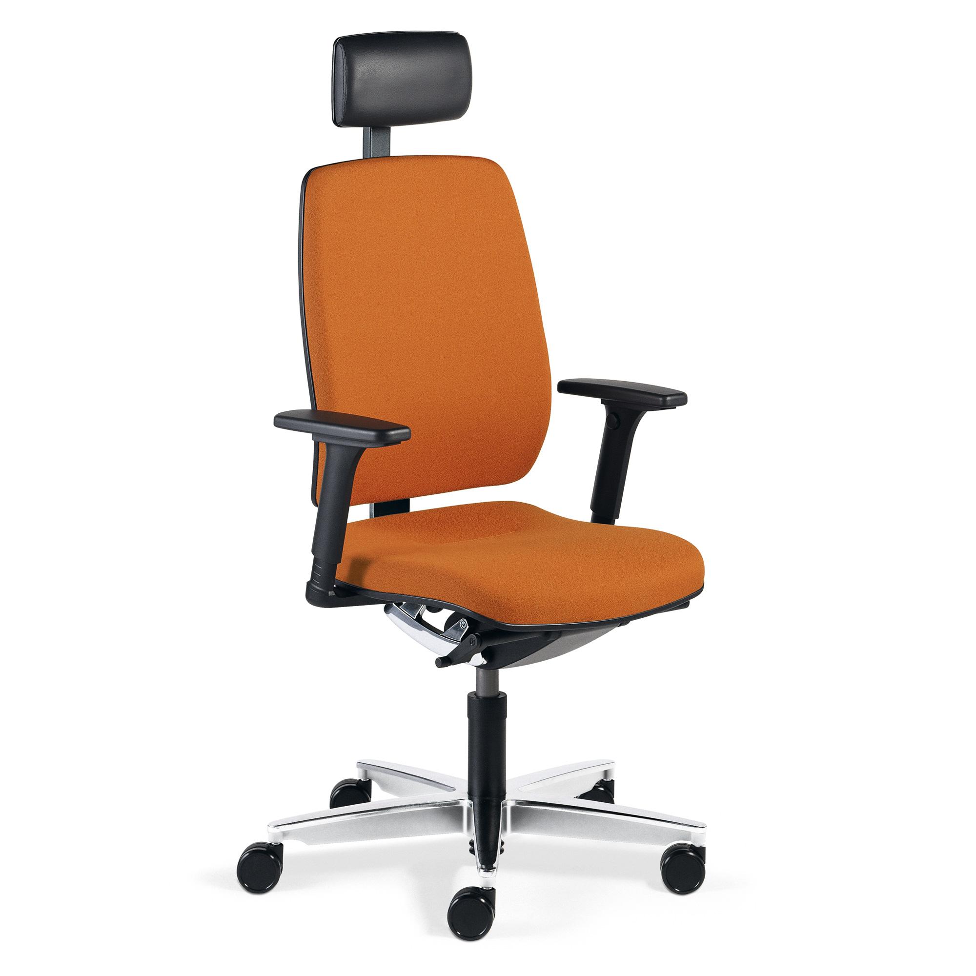Sedus EARLY BIRD Bürodrehstuhl EB-102, hohe Rückenlehne und optionale Kopfstütze mit Lederbezug