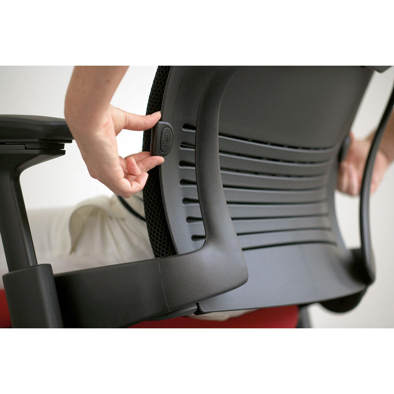 Steelcase Leap V2 Arbeitsstuhl mit Kopfstütze und Armlehnen