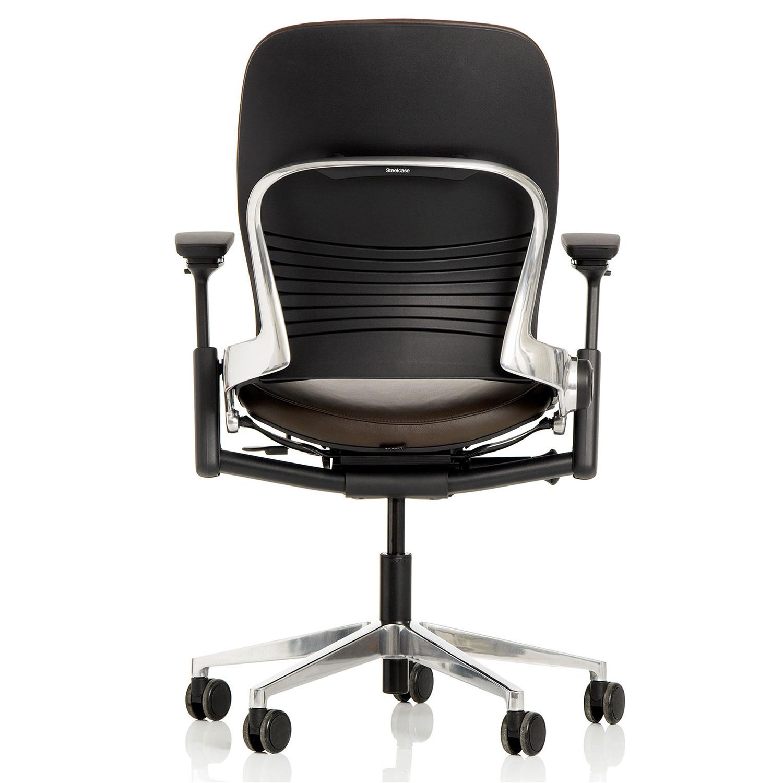 Steelcase Leap V2 Bürostuhl Executive Premium mit Lederbezug und Kopfstütze