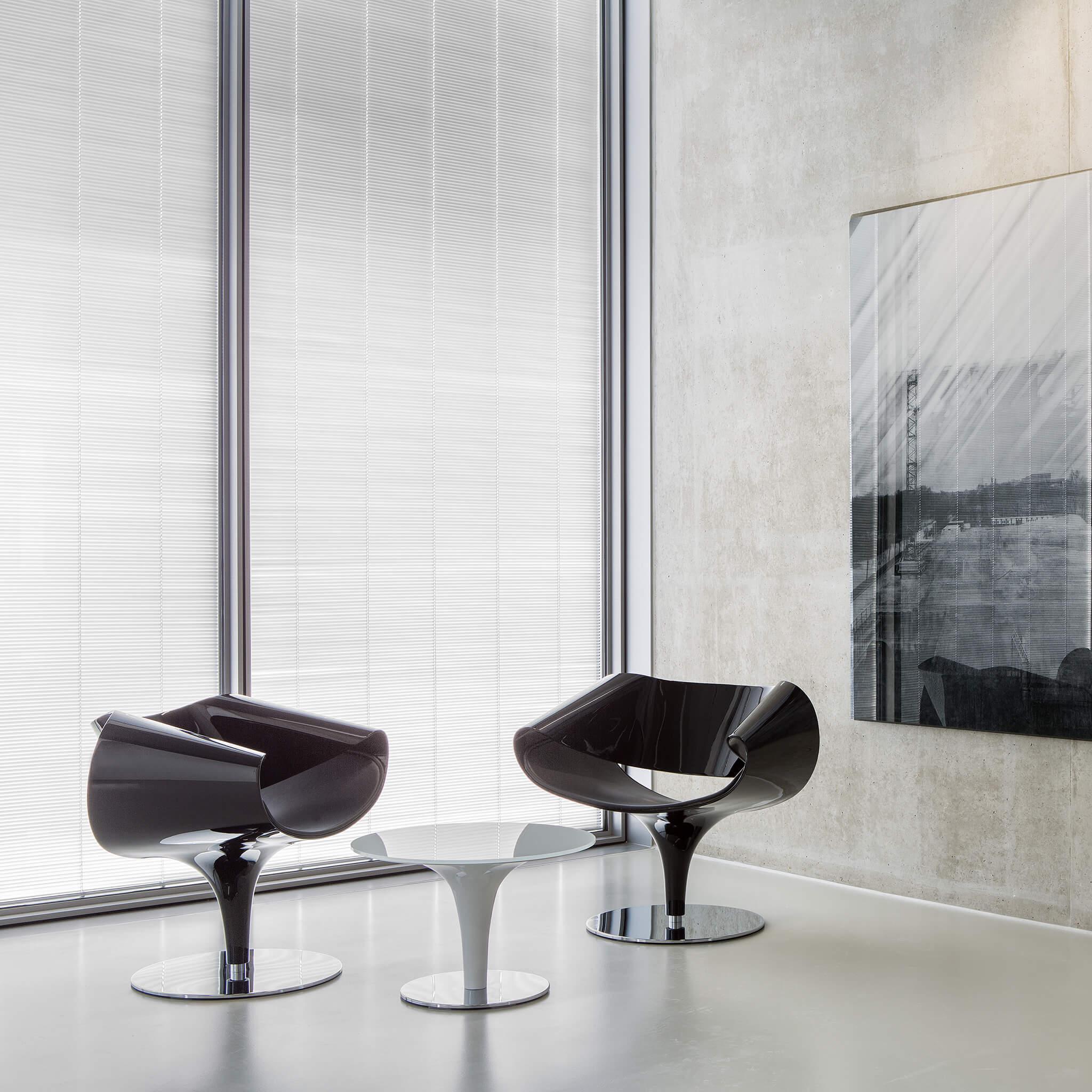 ZÜCO Perillo PE 0792 Beistelltisch und Loungetisch, Sicherheitsglas und Tellerfuß