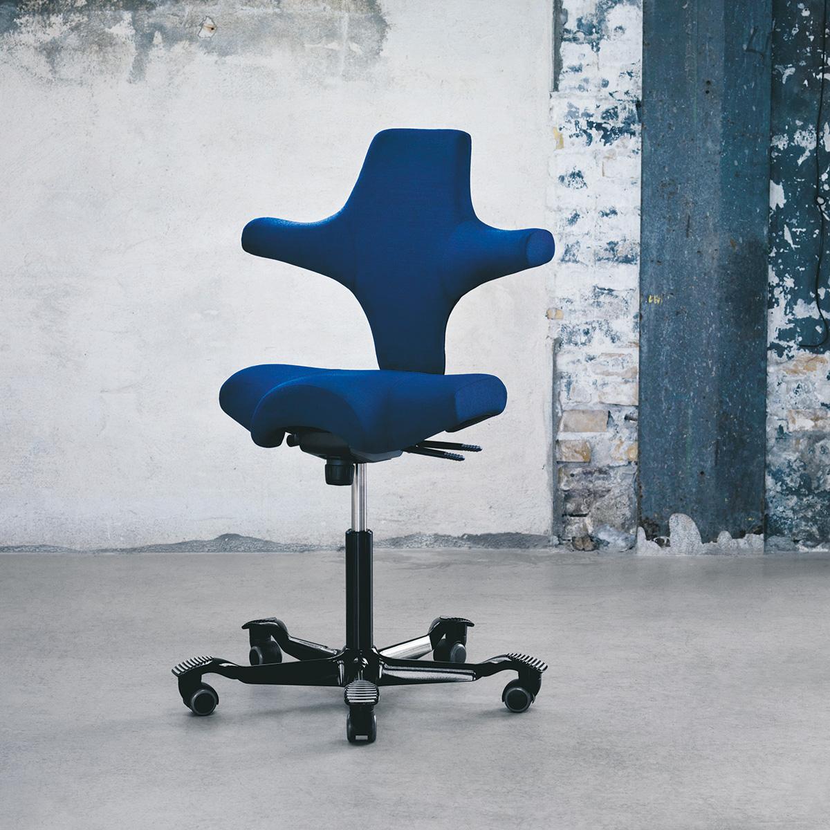 HAG Capisco 8106 Arbeitsstuhl Black Edition mit Rückenlehne
