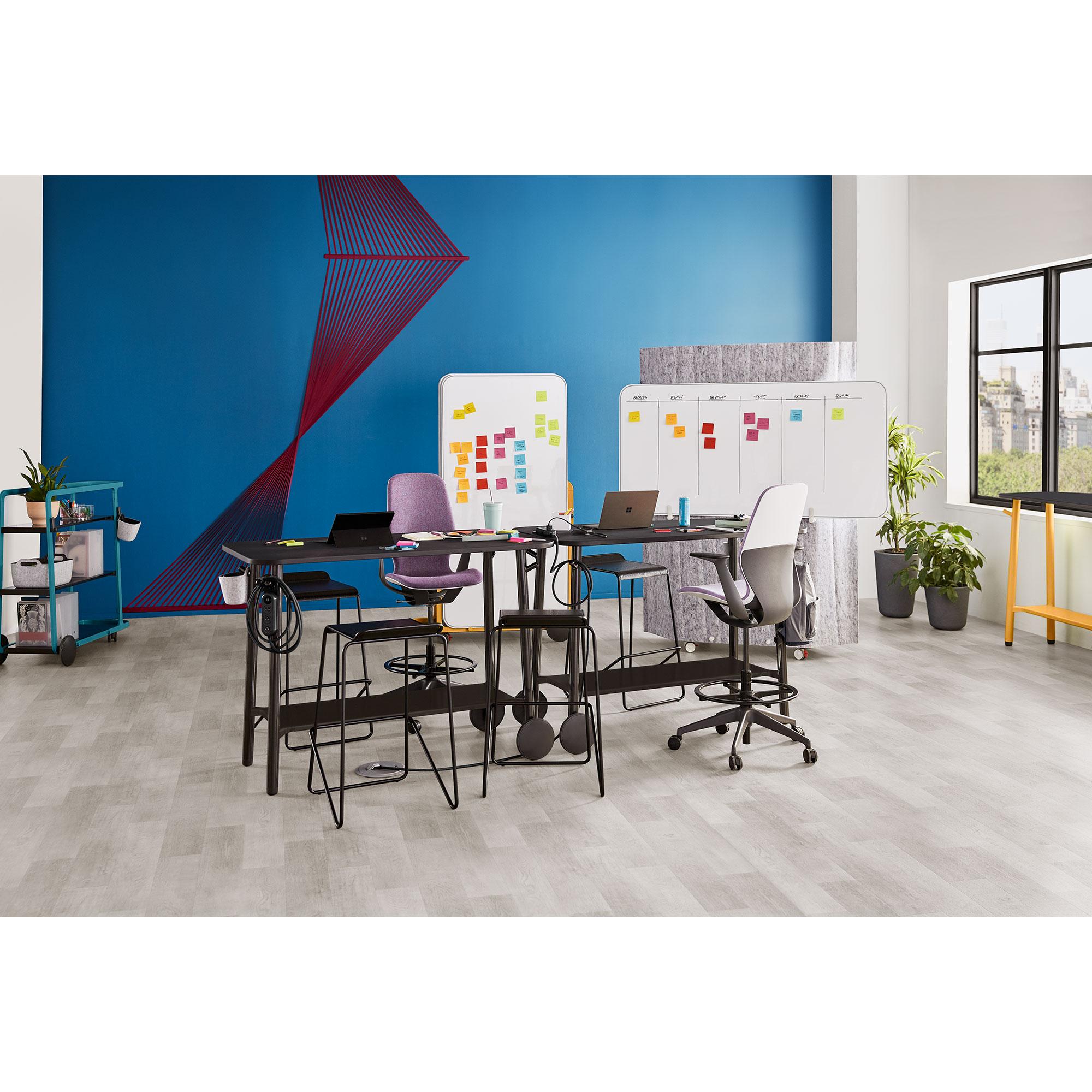 Steelcase Flex Collection Schreibtisch auf Rollen, einfach zu bewegen