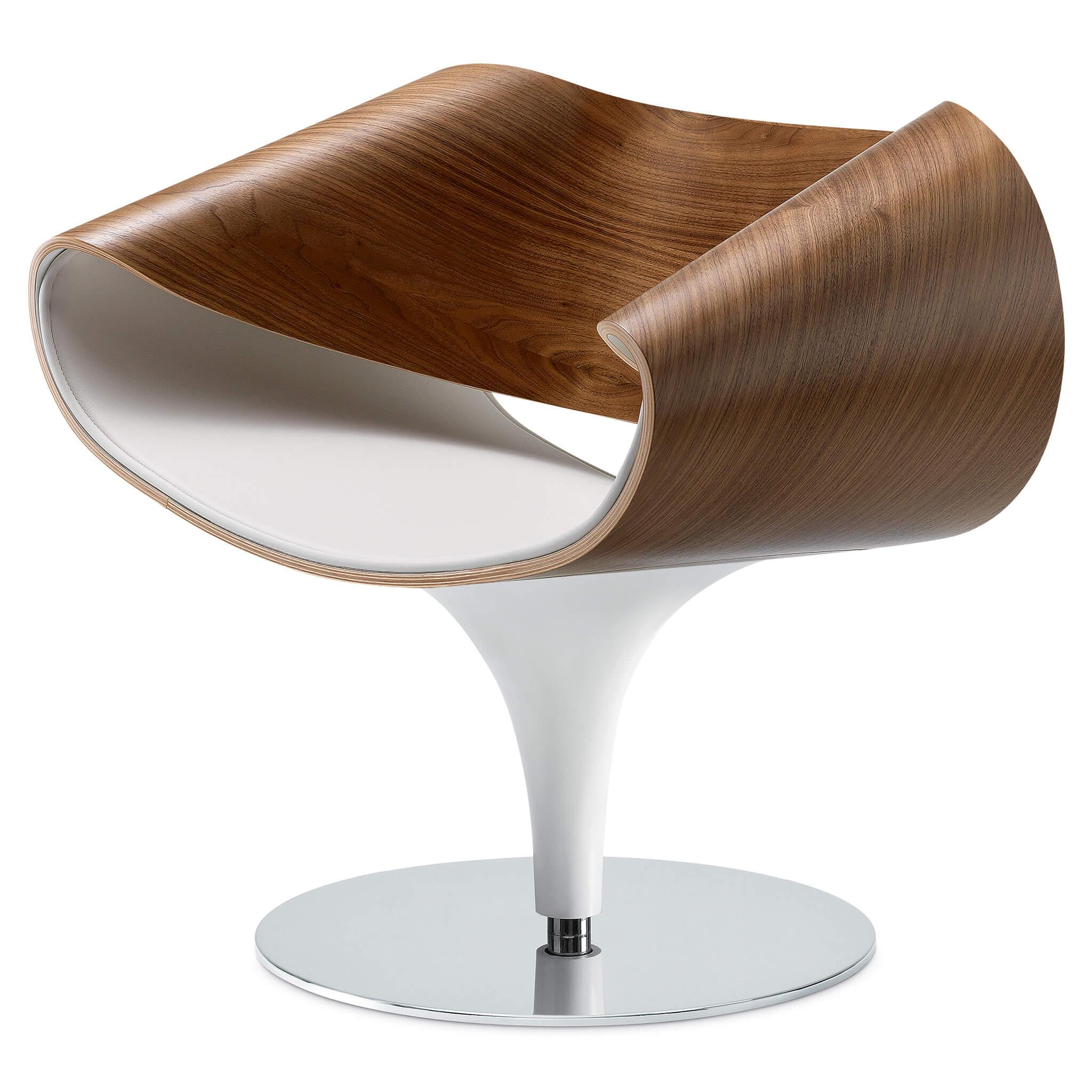 ZÜCO Perillo PE 0834 Designer-Stuhl mit Holzschale und Sitzpolster